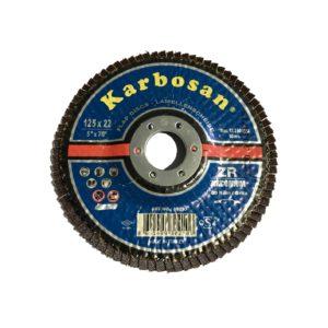 METAL DRIVE Disque Karbosan Flap disc Zirconium 125 x 22mm
